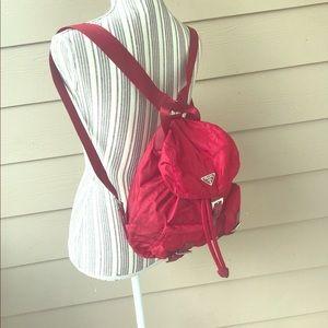 Prada Burgundy Mini Backpack